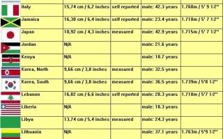 penisuri de diferite dimensiuni abstinență cu erecție la bărbați